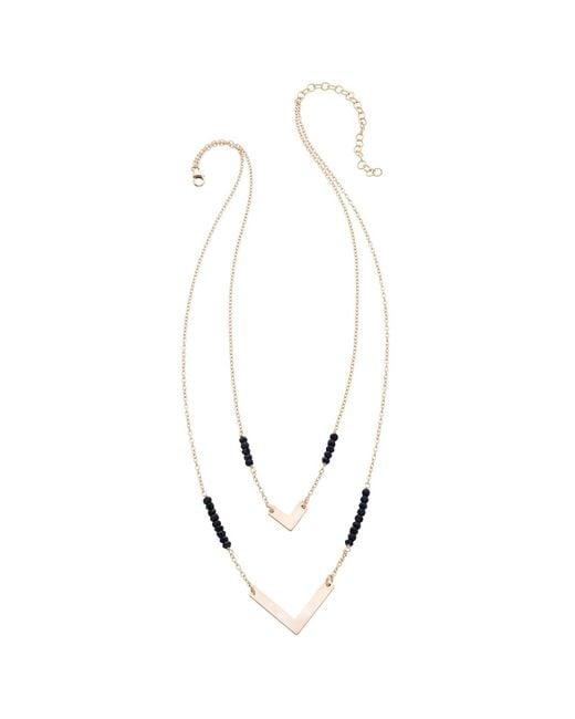 Heather Hawkins - Black Double Chevron Necklace - Lyst