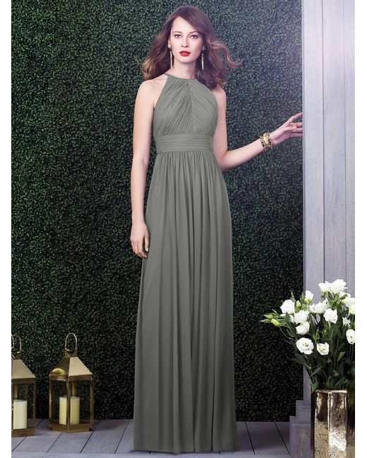 Dessy Collection - Green Dress In Charcoal Gray - Lyst