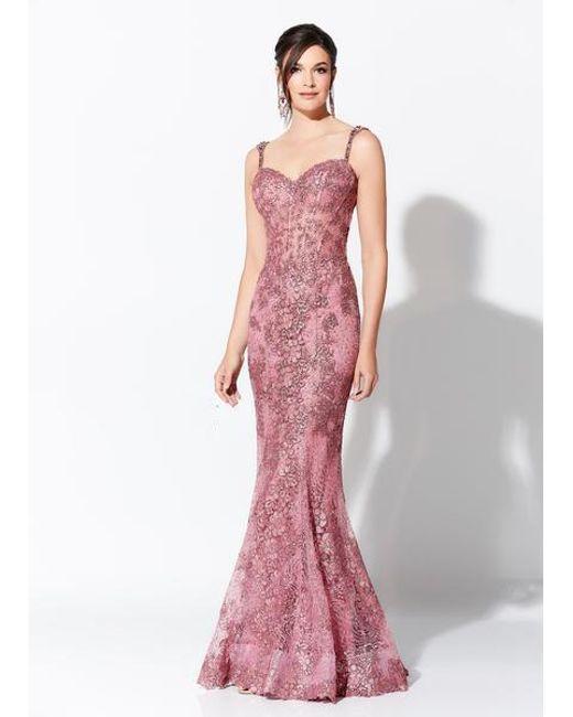 b029ea7c6c Mon Cheri - Purple Ivonne D For - 119d41 Lace Corset Mermaid Gown - Lyst