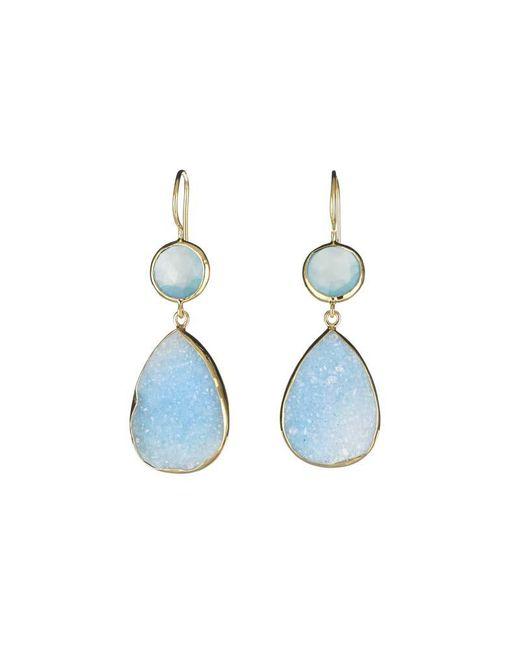 Margaret Elizabeth | Stone Drops Aqua Chalcedony & Blue Druzy | Lyst