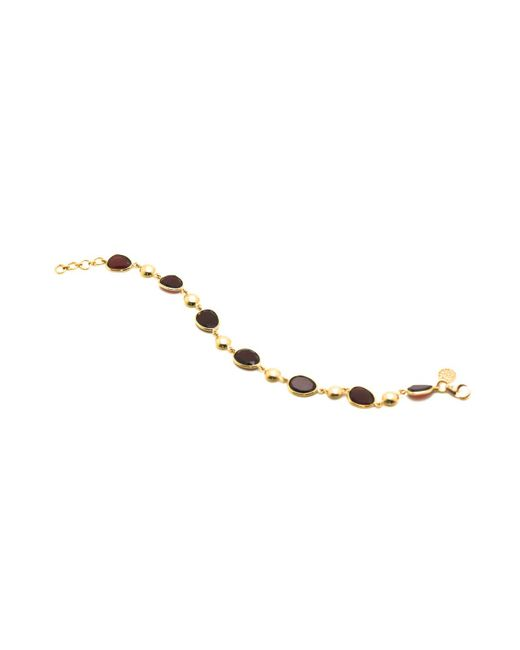 Trésor | Metallic K Yellow Gold Lente Bracelet With Garnet | Lyst