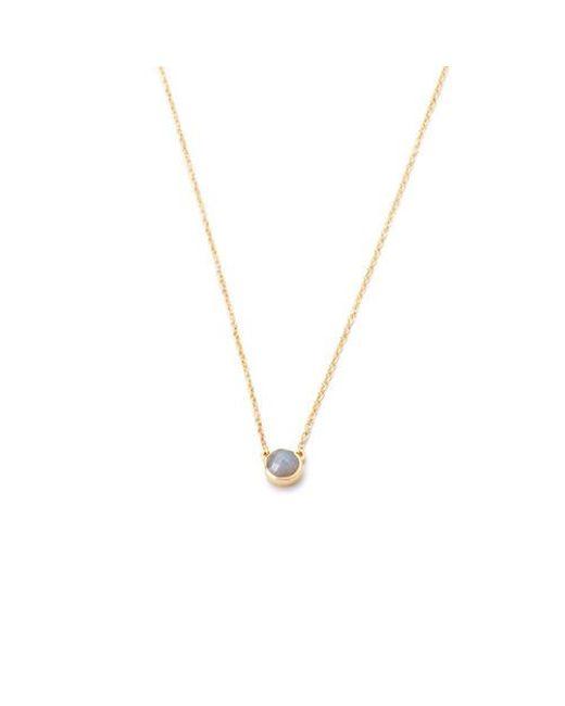 Margaret Elizabeth | Gray Petite Bezel Necklace Labradorite | Lyst
