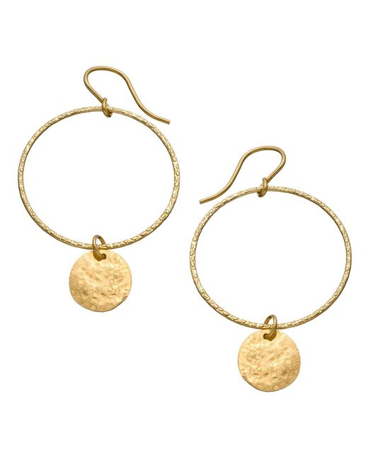Heather Hawkins | Metallic Hammered Hoop Coin Earrings | Lyst