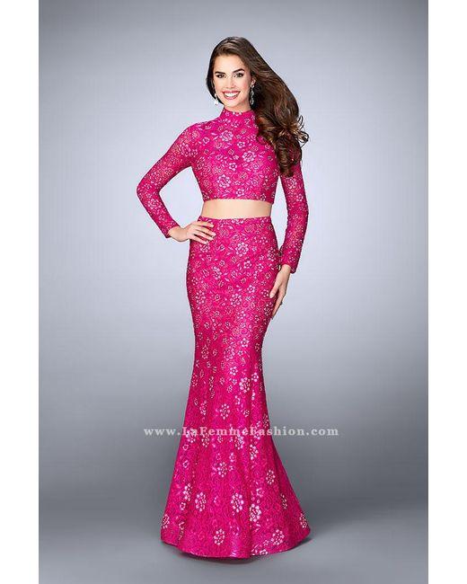 Long sleeve turtleneck prom dress