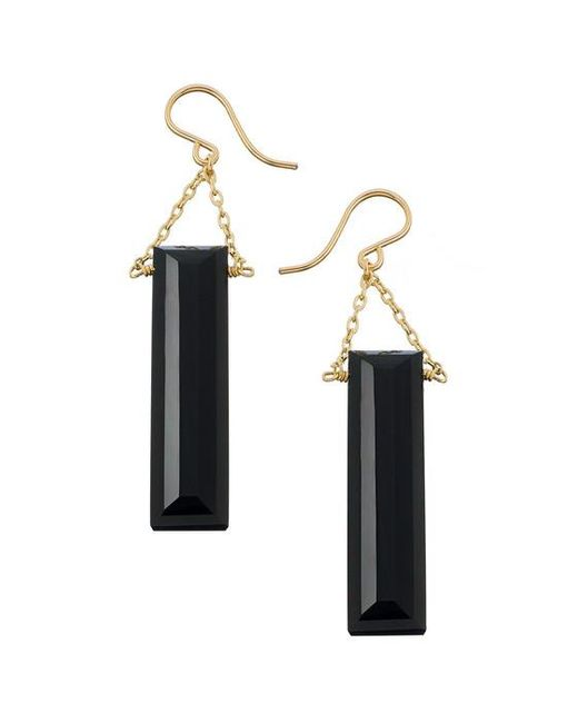 Heather Hawkins | Multicolor Baguette Gemstone Drop Earrings | Lyst