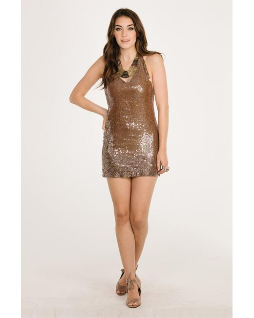 Raga - Brown Night Fever Dress - Lyst