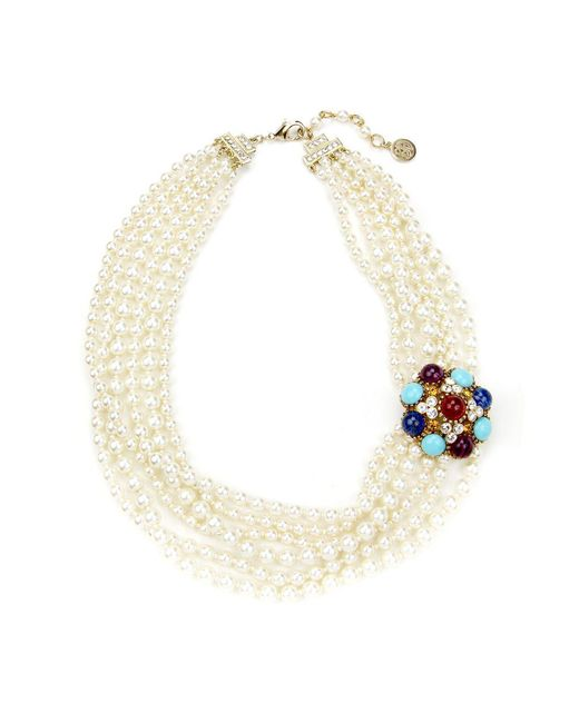 Ben-Amun - Multicolor Byzantine Pearl Necklace With Brooch - Lyst