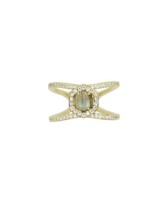 Rachael Ryen - Metallic Hexagon Pave Ring - Labradorite - Lyst