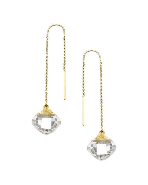 Heather Hawkins - Metallic Cubism Thread Thru Earrings - Lyst