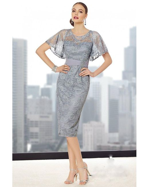 Alyce Paris - Gray Mother Of The Bride - Dress In Silver - Lyst