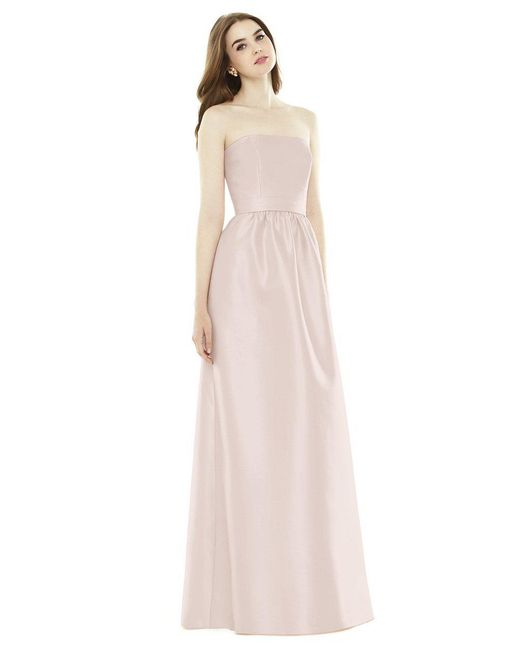 Alfred Sung - Pink D724 Bridesmaid Dress In Blush - Lyst