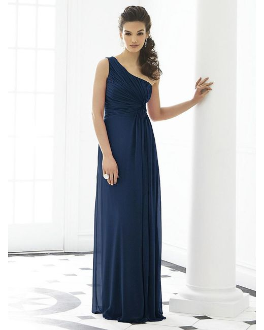 After Six - Blue Dress In Midnight - Lyst