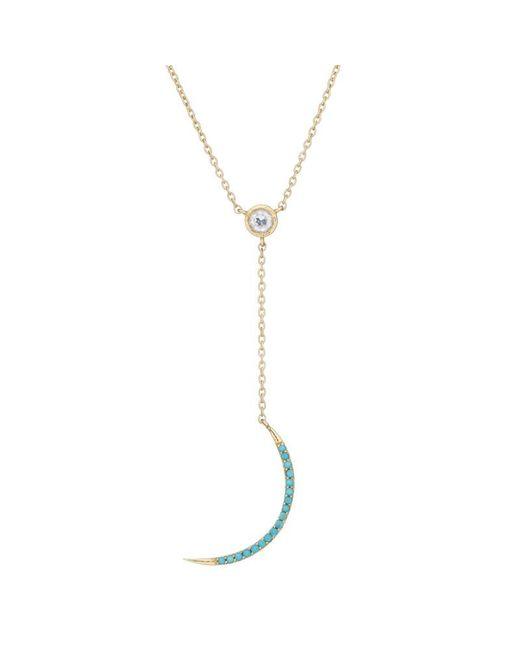 Ashley Schenkein Jewelry - Black Tulum Crescent Moon Y-drop Necklace - Lyst