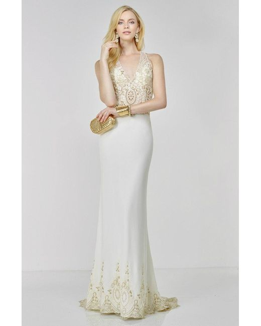 Lyst - Alyce Paris Prom Dress In Ivory Gold in White
