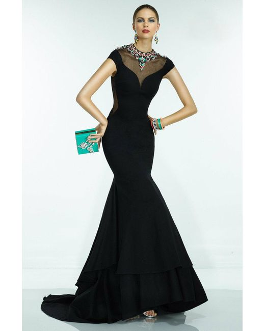 Alyce Paris | Claudine - Long Dress In Black Multi | Lyst