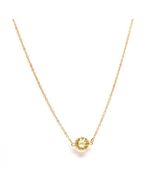 Rachael Ryen - Metallic K Yellow Gold Citrine Layering Necklace - Lyst