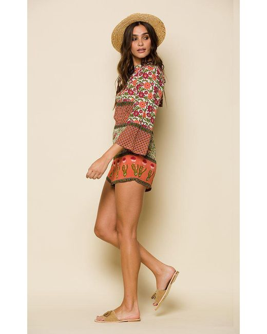 723f8d81bb4 ... Raga - Multicolor Enchanted Forest Open-back Romper - Lyst ...
