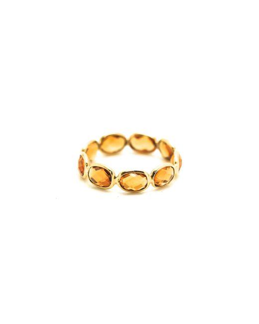 Trésor | Metallic Gemstone Stackable Ring Band In K Yellow Gold Garnet | Lyst