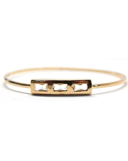 Rachael Ryen | Metallic Baguette Stone Bangle | Lyst