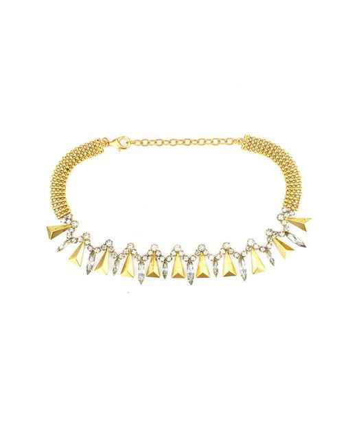 Elizabeth Cole | Metallic Deanna Necklace | Lyst