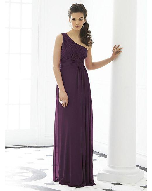After Six - Purple Dress In Aubergine - Lyst
