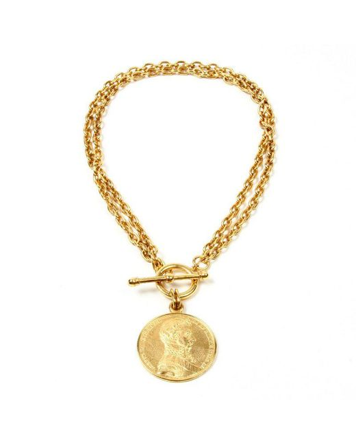 Ben-Amun - Metallic Moroccan Coin Toggle Necklace - Lyst
