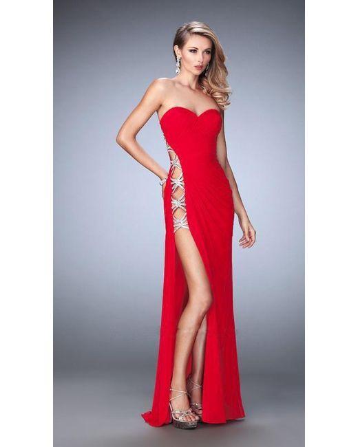 6de8b61837 Lyst - La Femme 22125 Prom Dress in Red