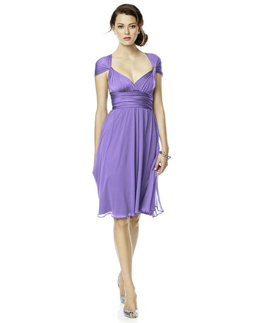 Dessy Collection - Purple Luxtwist Dress In Tahiti - Lyst