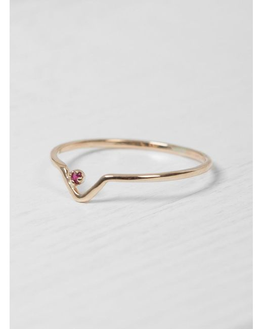Wwake - Red Ruby Triangle Lineage Ring - Lyst