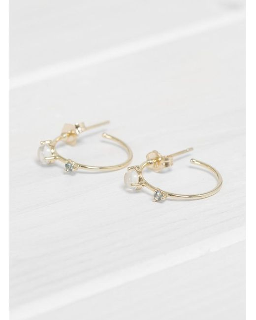 Wwake - Multicolor Small Two Step Hoops - Lyst