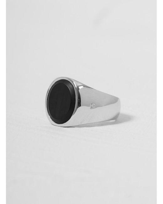 Tom Wood Black Onyx Oval Ring for men