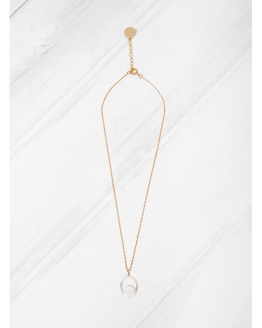 Mila Marin | Brown Amulet Mother Of Pearl Necklace | Lyst