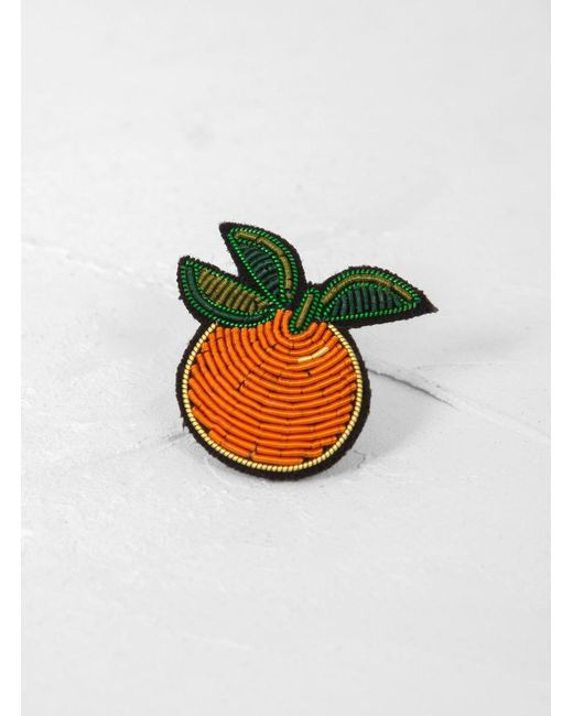 Macon & Lesquoy - Orange Brooch - Lyst