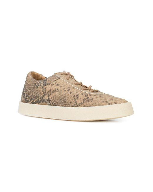 981fa14ac62 ... Yeezy - Natural Taupe Embossed Leather Crepe Sneaker for Men - Lyst ...