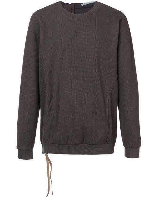 The Viridi-anne - Gray Back Zip Pullover for Men - Lyst