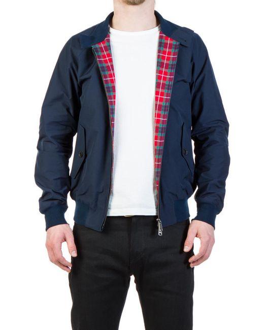Baracuta - Blue G9 Modern Classic Harrington Jacket Navy for Men - Lyst