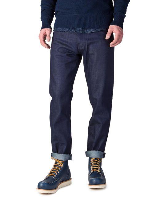Nudie Jeans - Nudie Jeans Steady Eddie Dry Blue Faith 12.25oz for Men - Lyst
