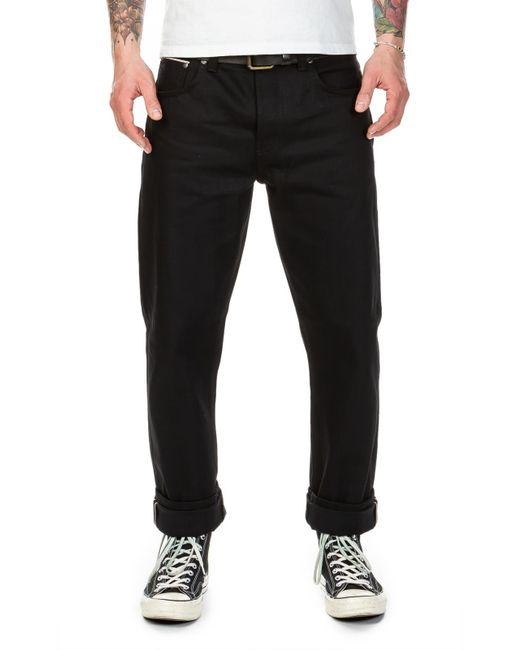 1e80e2a4 Nudie Jeans - Sleepy Sixten Dry Black Selvage 14oz for Men - Lyst ...