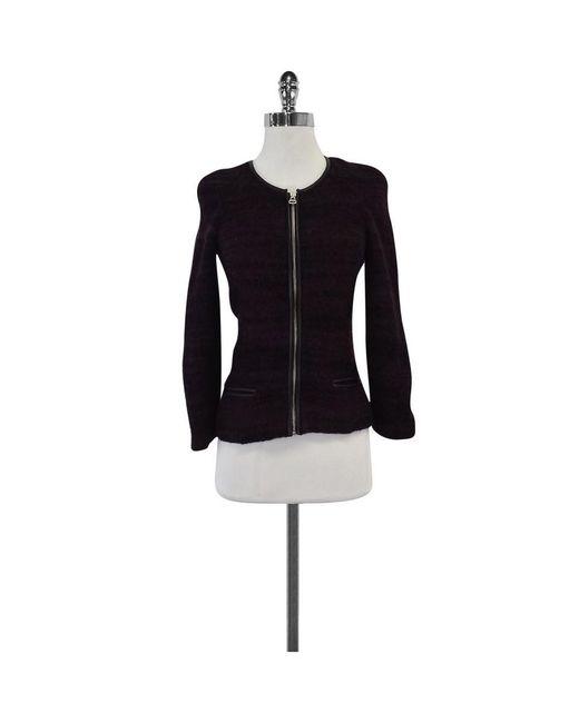 Isabel Marant - Blue Etoile - Maroon & Navy Striped Wool Jacket - Lyst