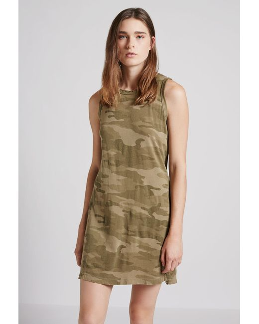 Current Elliott The Muscle Tee Dress In Green Lyst