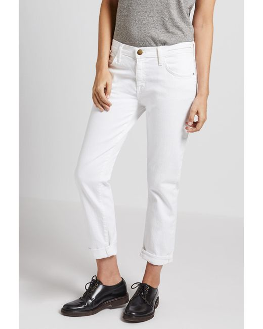 Current/Elliott - White The Fling Relaxed Fit Jean - Lyst
