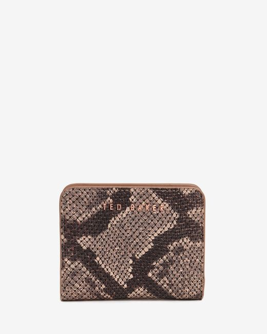 Ted Baker | Brown Exotic Leather Purse | Lyst