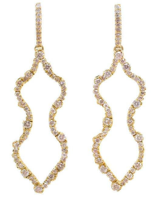 Kimberly Mcdonald | Metallic Diamond 'femme' Earrings | Lyst