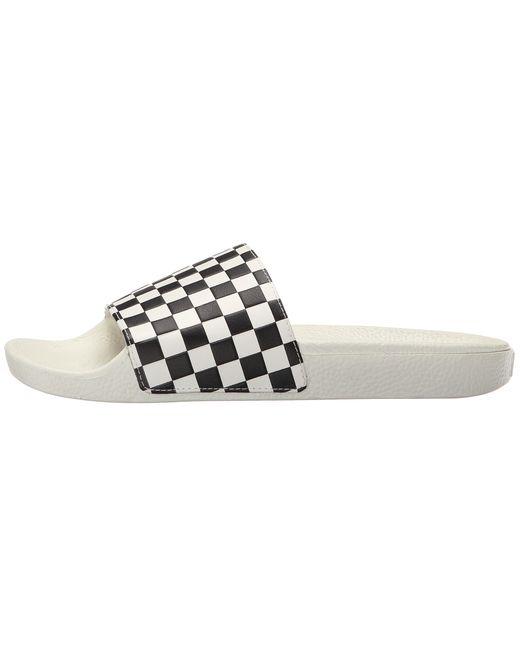Vans Slide-on in White for Men ((Checkerboard) White/Black ...