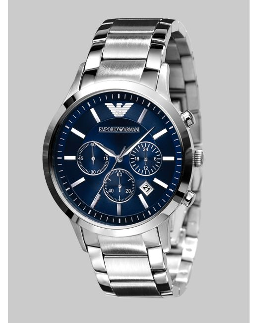 Emporio Armani | Gray Men's Stainless Steel Bracelet Ar2448 for Men | Lyst