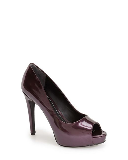 Charles by Charles David | Purple 'fox' Platform Peep Toe Pump | Lyst