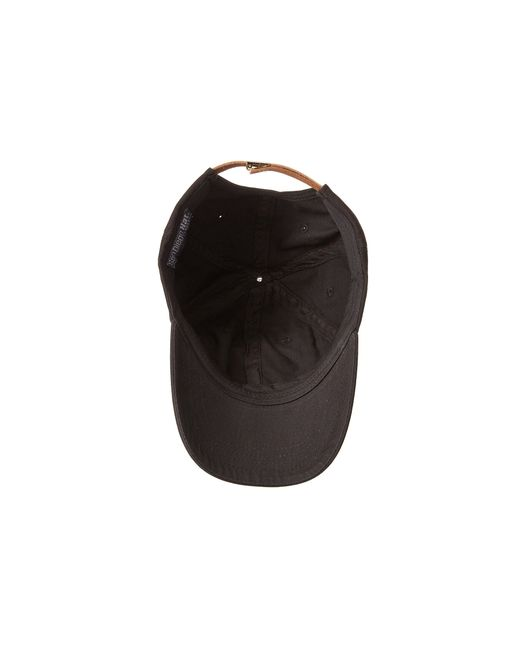 San Diego Hat Company | Black Cth4153 Washed Ball Cap With Adjustable Leather Back | Lyst