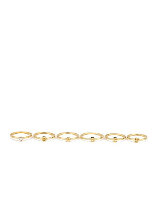 Maria Francesca Pepe | Metallic Women's Babes Ring Set Of 6 | Lyst