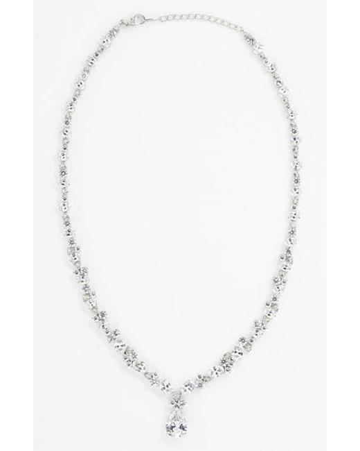 Nadri | Metallic Teardrop Pendant Necklace (nordstrom Exclusive) | Lyst
