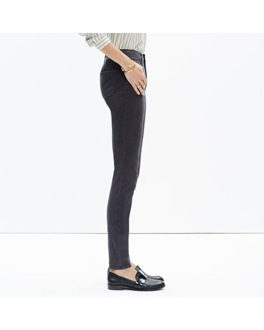 "Madewell | Black 9"" High-rise Skinny Jeans: Garment-dyed Edition 